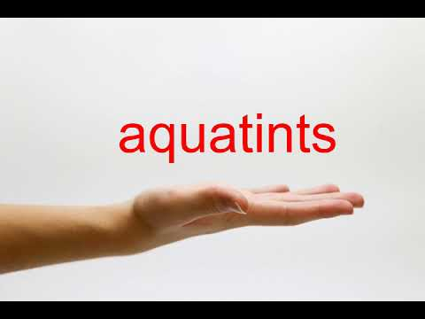How to Pronounce aquatints - American English