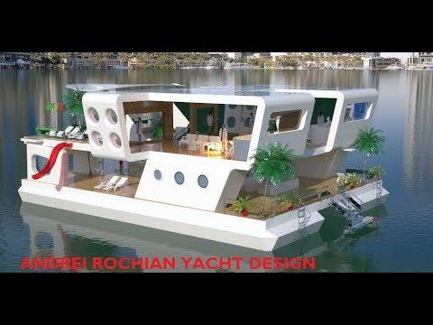 Solar Power  Composite Floating  Residential/ Restaurant/Entertainment Hub . Design Andrei Rochian