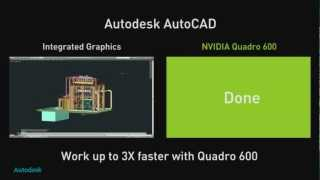 NVIDIA Autodesk AutoCAD side by side comparison
