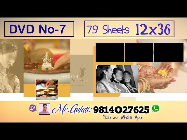 DVD 7,  PSD Sheets  12x36 For Krizma Album ( 79 Sheets )