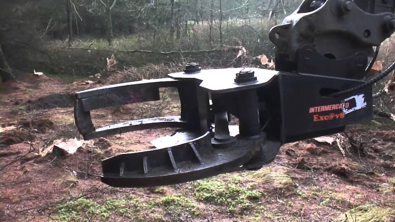 Volvo Ec140d Excavator With Tigercut Tree Shear Youtube