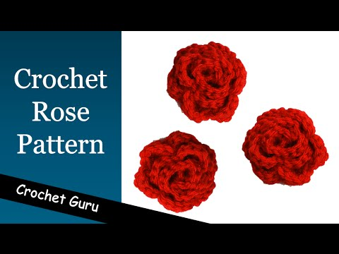 How To Crochet A Rose Rose Flower Pattern Youtube
