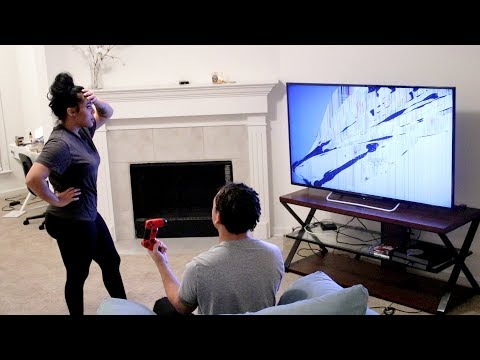 BROKE MY GIRLFRIEND'S $2000 TV PRANK!