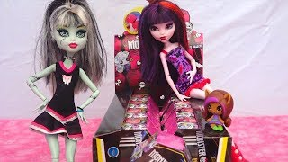Opening Monster High Minis Surprise Boxes - Draculaura, Clawdeen, Frankie, Cleo Surprise Toys