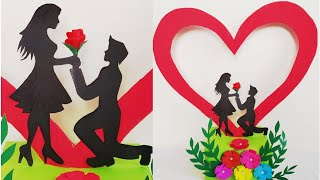 Diy Valentine's Day Special Gift Idea/how To Make Romantic Couple Showpiece For Valentine's Day