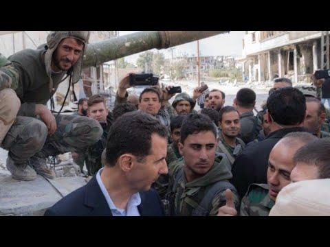 Bashar al Asad visita tropas em Ghuta Oriental