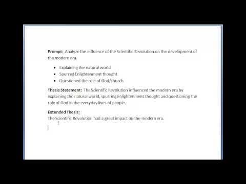 Видео Extended thesis statement
