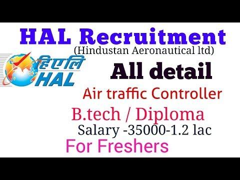 Hindustan Aeronautics Limited – HAL Recruitment – Air Traffic Controller (Fresher B.tech /Diploma)