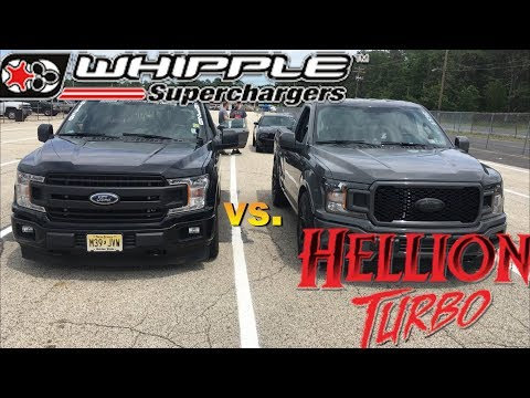 I Raced a Hellion 2019 F-150 @The Coyote Shootout with my Whipple 2018 F-150
