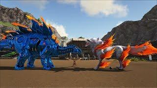 ark survival ragnarok tập 6 si lửa stego v baby phoenix