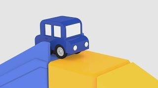 Lehrreicher Zeichentrickfilm - Die 4 kleinen Autos - Spaß auf der Rutsche