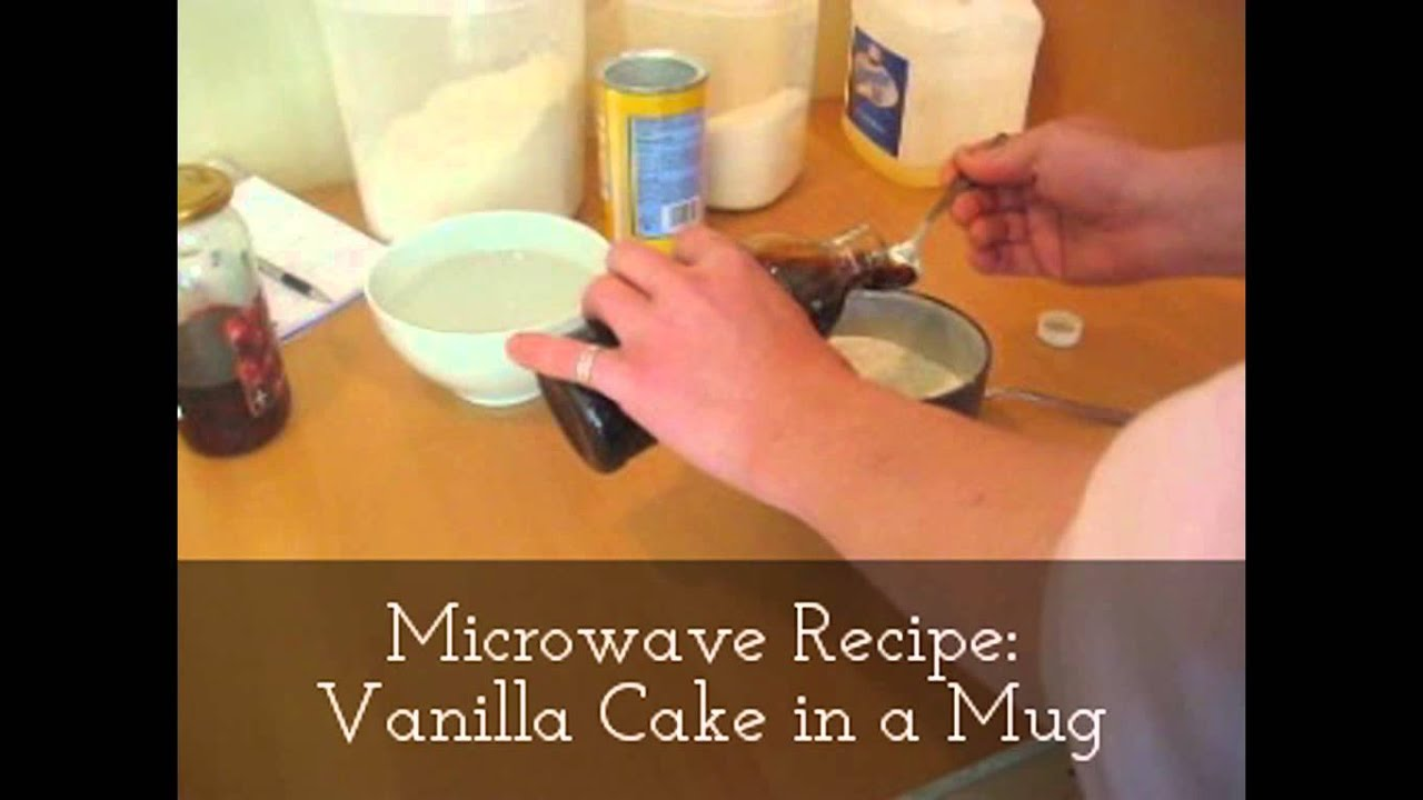 Vanilla Cake: Microwave Recipe for Vanilla Cake in a Mug ...