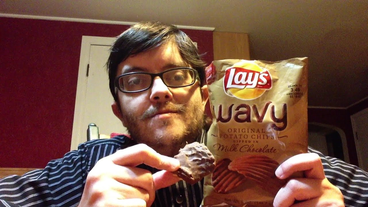Review: Lays Wavy Chips Dipped in Milk Chocolate - YouTube