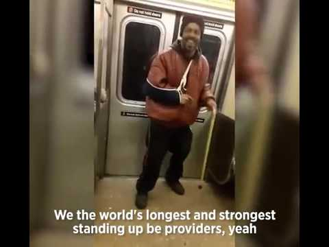 Man Sings Rihanna On NYC Subway