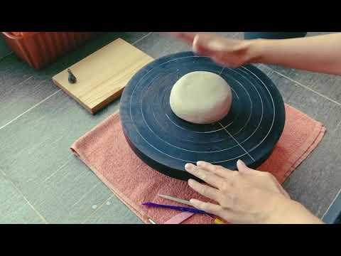 Test bàn xoay gốm mới tậu ✨   Làm gốm tại nhà   Video này có nhạc êm dịu