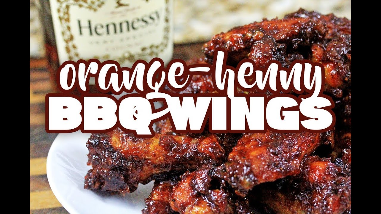 Orange-Henny BBQ Wings | How to make Henny BBQ Sauce