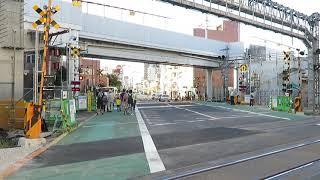 東武スカイツリーライン竹ノ塚駅浅草寄りの踏切 2018ver.