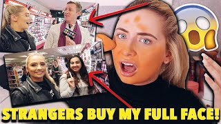 i let STRANGERS BUY my FULL FACE!! 😱Applying a full face of makeup strangers picked me!! 😭😱