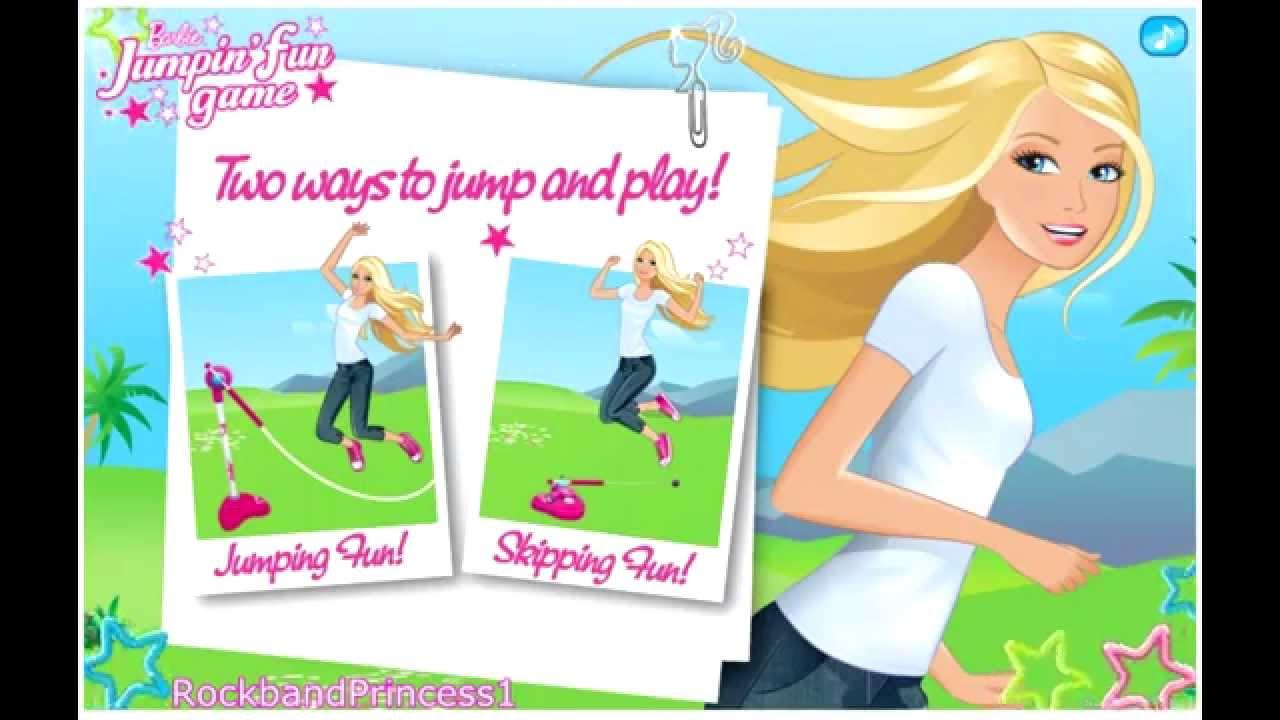 Barbie Online Games Barbie Jumpin Fun Game Youtube