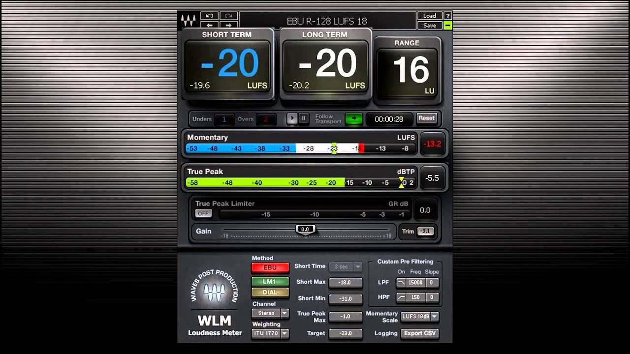 Waves WLM Plus Loudness Meter - Toolfarm