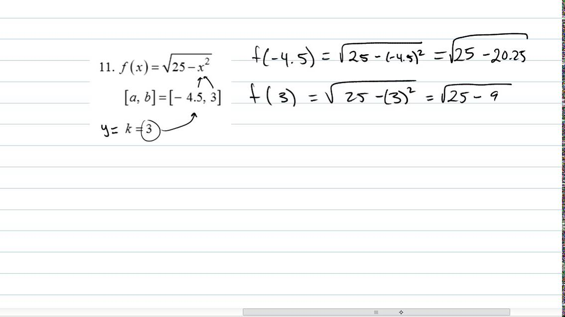Worksheet on Continuity and Intermediate Value Theorem pt2