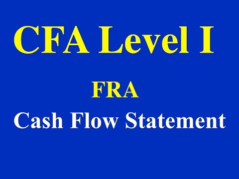 2015- CFA Level 1- FRA- Cash Flow Statement- Part I (of 3)