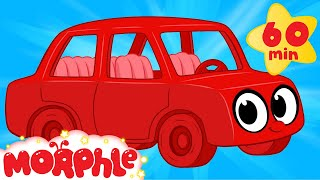 My Red Car (+ 1 hour Morphle Mega Vehicle compilation for kids!)