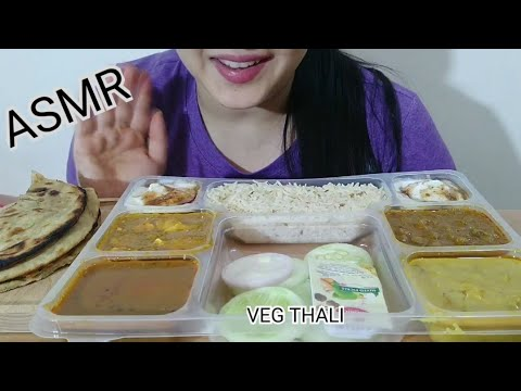 VEG THALI ASMR | INDIAN FOOD EATING SOUND |DETECTIVE BITES