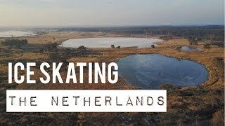 FIRST FLIGHT WITH DJI MAVIC PRO! 4K DRONE VIDEO OF ICE SKATING IN BEAUTIFUL HOLLAND!