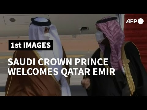 Qatar emir lands in Saudi Arabia for landmark summit   AFP