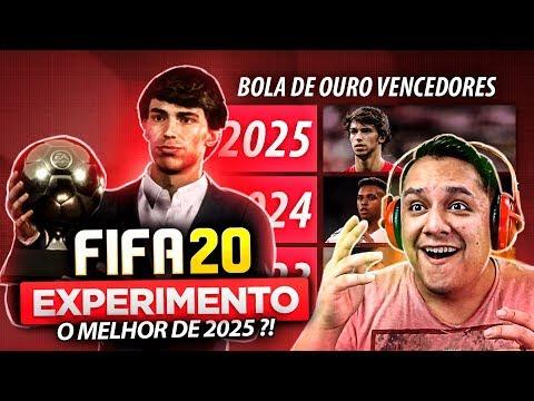 Simulei Os VENCEDORES Da BOLA DE OURO! (2020-2034) FIFA 20 EXPERIMENTO!!