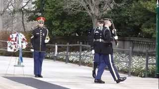 Changing of the Guard and Wreath Laying at Arlington National Cemetery - 2/27/13