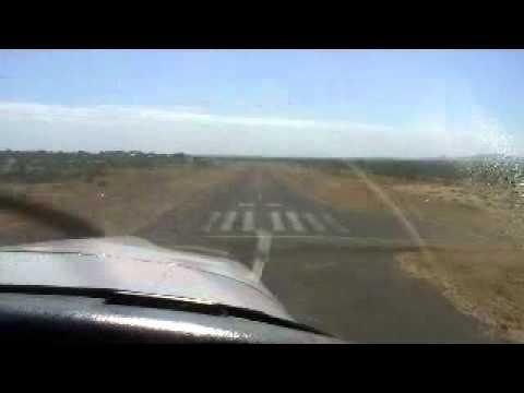 Piper Lance Landing at YHLC Halls Creek, Western Australia