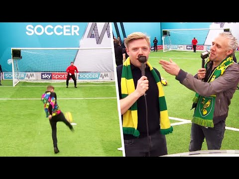 'EXPELLIARMUS!' - Rob Beckett gives Norwich fans funny nicknames during Volley Challenge ⚡🤓