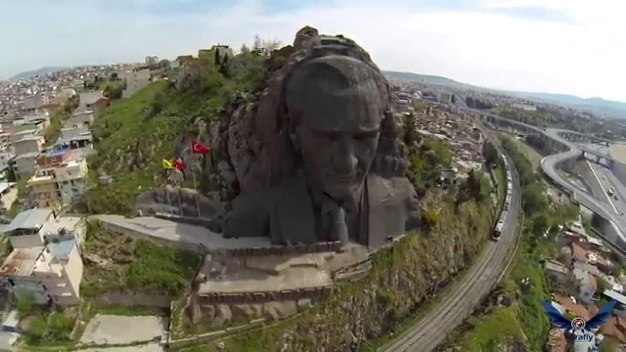 izmirde dağda atatürk heykeli ile ilgili görsel sonucu