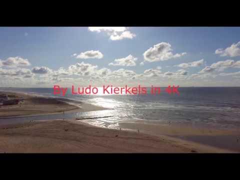 4K Beach In The Netherlands