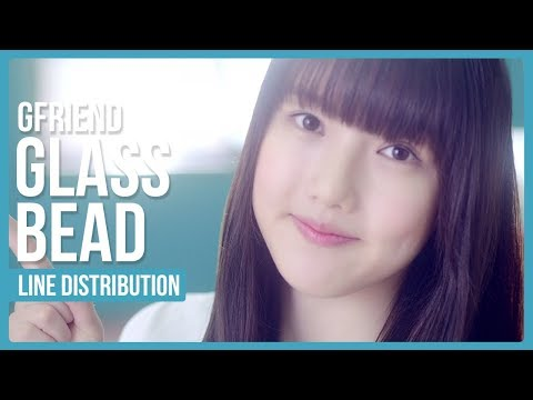 GFRIEND - Glass Bead Line Distribution (Color Coded)