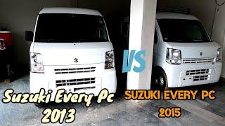 Suzuki Every Pc 2013 vs Suzuki Every Pc 2015