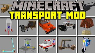 Minecraft TRANSPORT MOD! | BUILD HELICOPTERS, BIKES, CARS, JETPACKS, & MORE! | Modded Mini-Game