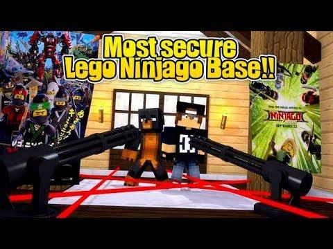 Minecraft Vs - THE MOST SECURE LEGO NINJAGO BASE CHALLENGE!!!