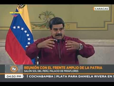 Reunión completa de Nicolás Maduro con el Frente amplio de la Patria en Miraflores, 1 junio 2018