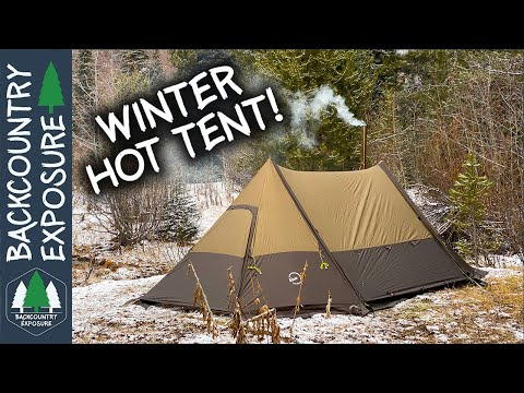 winter-camping-in-a-hot-tent-with-friends!