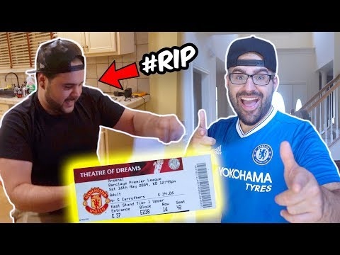 Surprising My Brother with Dream Premier league Tickets!! (EXTREMELY MAD) Prank War
