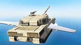 HOW TO FLY A TANK! (GTA 5 Challenge)