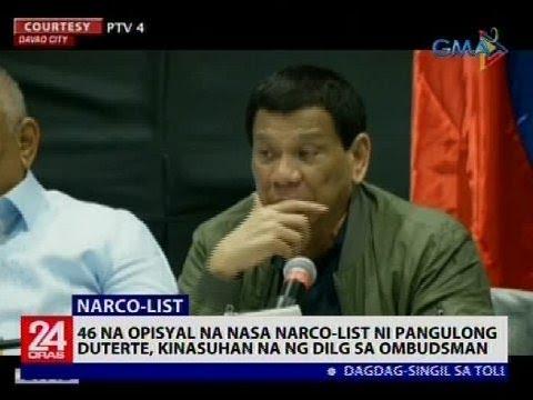 24 Oras: 46 na opisyal na nasa narco-list ni Pangulong Duterte, kinasuhan na ng DILG sa Ombudsman