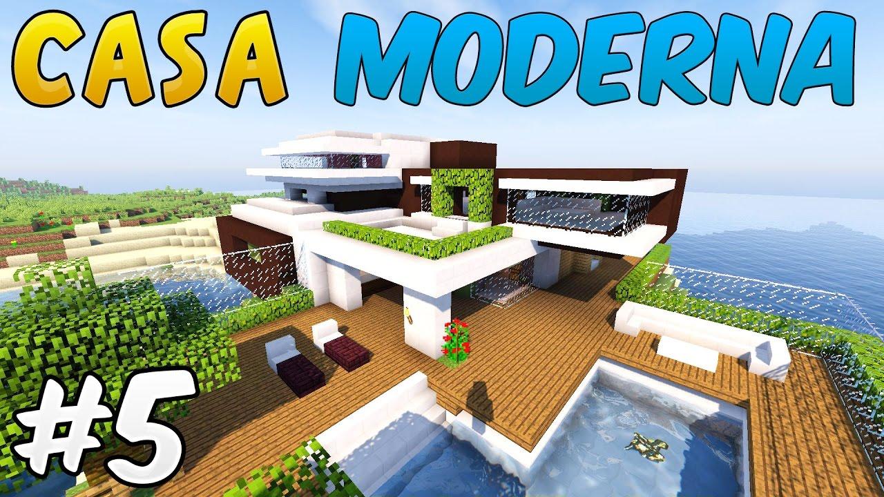 Come costruire una casa moderna minecraft parte finale for Costruire una casa per 100k