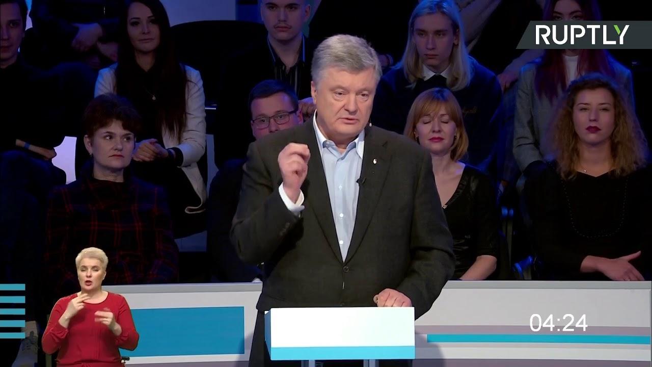 Речь Порошенко после дебатов с Зеленским на украинском телевидении