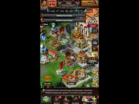 Game of War Newest Gear Releases!  And a secret trick!