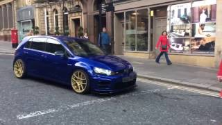 LOUD VW GOLF R ACCELERATIONS AND LAUNCH CONTROL!!