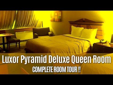 Luxor Pyramid Deluxe Queen Room Tour YouTube Simple Luxor One Bedroom Luxury Suite Ideas Design